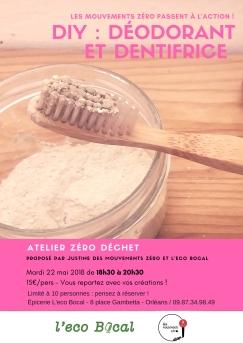 DIY déodorant & dentifrice - communiqué