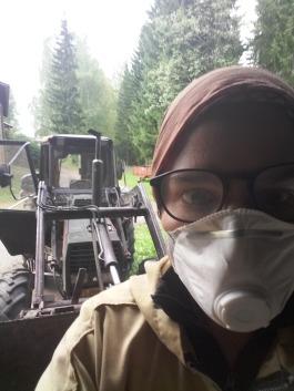 Selfie avec le tracteur