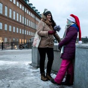 20181221. Greta Thunberg strejkar för klimatet på mynttorget i Stockholm. Foto Roger Turesson DN