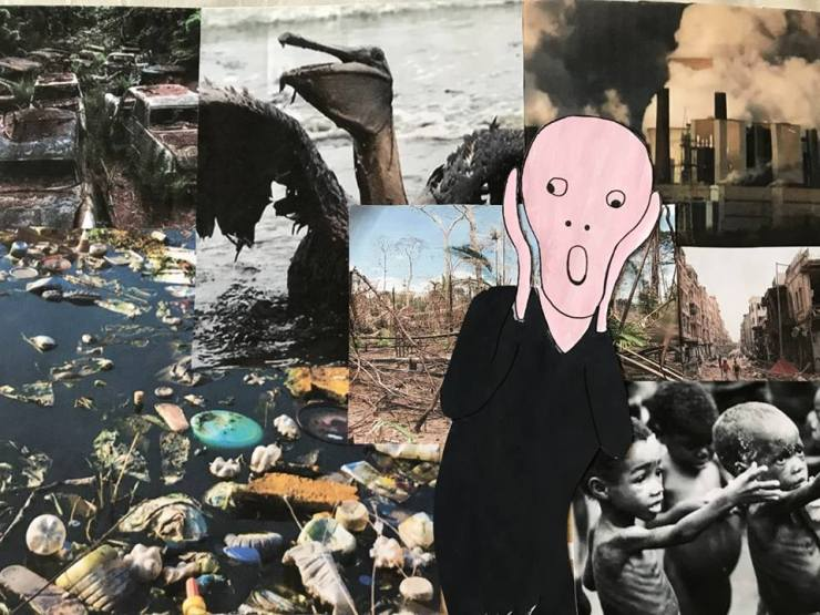 le cri-collage enfant